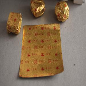 金色茶叶包装55直播app 食品糖果巧克力包装锡纸 小沱茶55直播足球软件下载锡箔纸